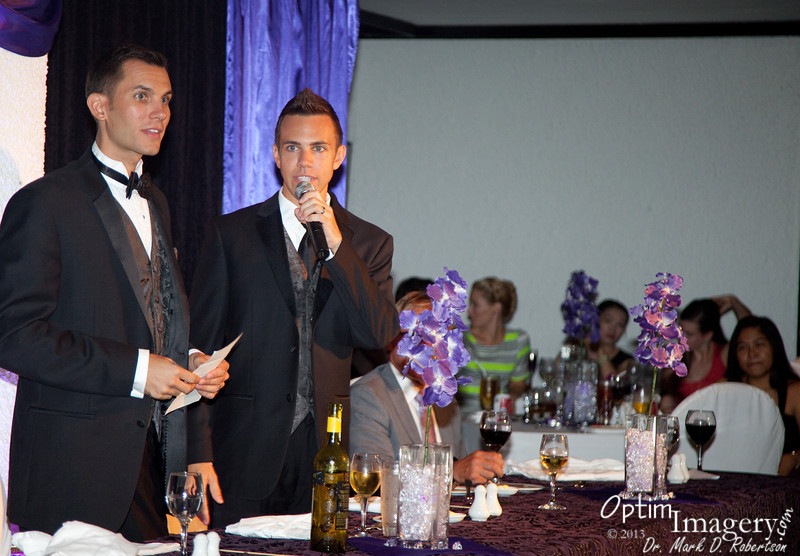 OCTOBER 10, 2013:  CHRIS AND RYAN WEDDING