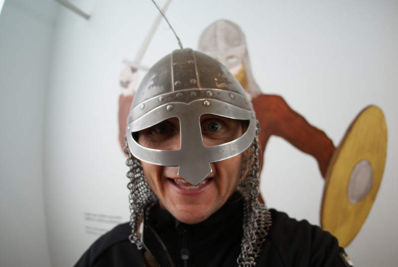 At the museum I learned a great deal.  I learned Iceland was founded in the 9th century.  I learned the first comprehensive census of an entire country was done in Iceland in 1703.  I also learned I look like a total dweeb in a war helmet.