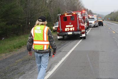 Car Crashes into Trees, SR209, Schuylkill Township (4-26-2012)