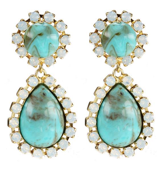 Gia Earrings / White Opal