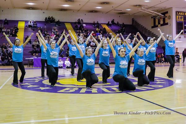 Dance Team with Junior Golden Girls 1/19/18