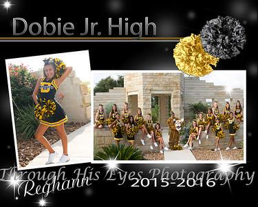 Dobie Jr. High Cheerleaders 15-16