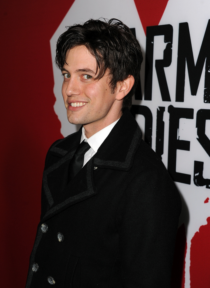 "Description of . Actor Jackson Rathbone arrives for the Los Angeles premiere of Summit Entertainment\'s ""Warm Bodies\"" at ArcLight Cinemas Cinerama Dome on January 29, 2013 in Hollywood, California.  (Photo by Kevin Winter/Getty Images)"