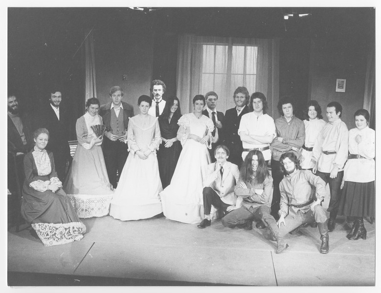 Cast of 'The Possessed', Autumn 1975