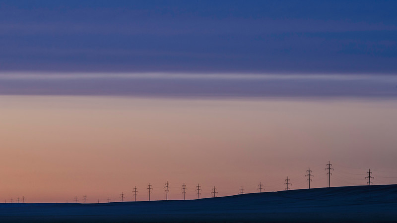 Dusk in the steppe