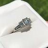 1.15ctw Emerald Cut Diamond Trilogy Ring 7