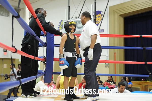 Bout 6 Markus Jackson, Cory Fight Club, Cleveland -vs- Brendon Jones, Warren BC, Warren, 80 lbs