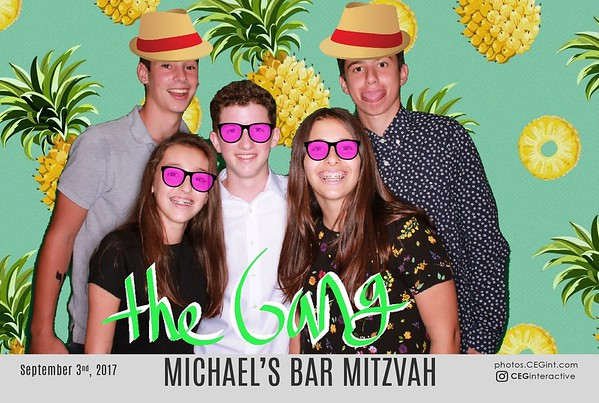 2017-09-03 Michael's Bar Mitzvah - Photo Graffiti Wall