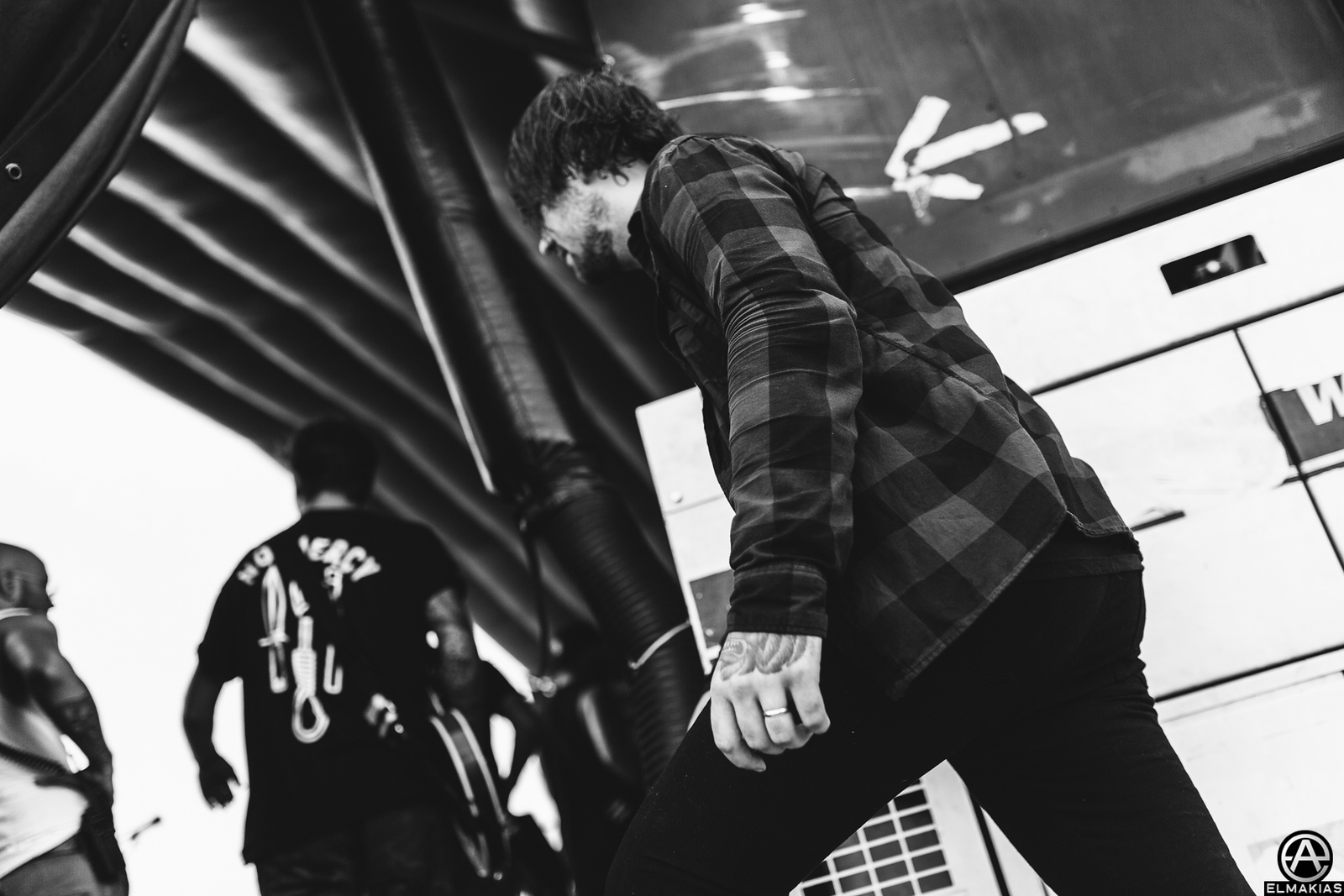 Caleb Shomo of Beartooth live at Vans Warped Tour 2015 by Adam Elmakias