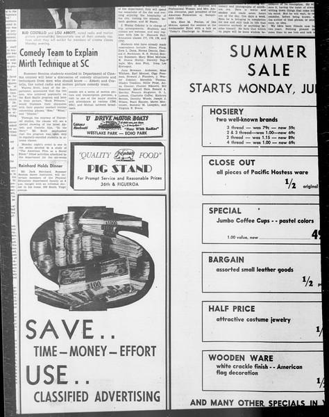Daily Trojan, Vol. 33, No. 7, June 16, 1941
