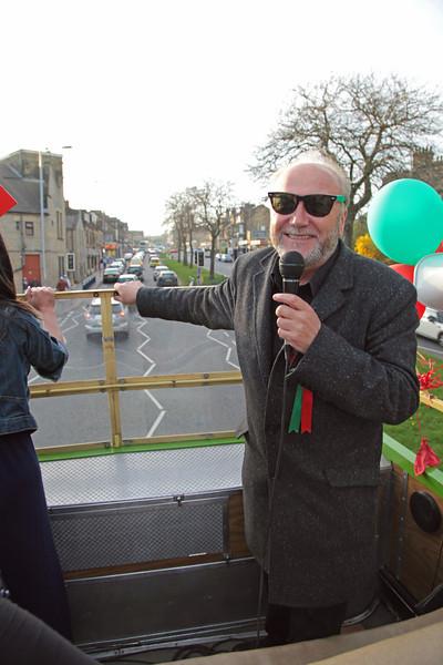 Battle Bus Bradford Election day 29th March 2012