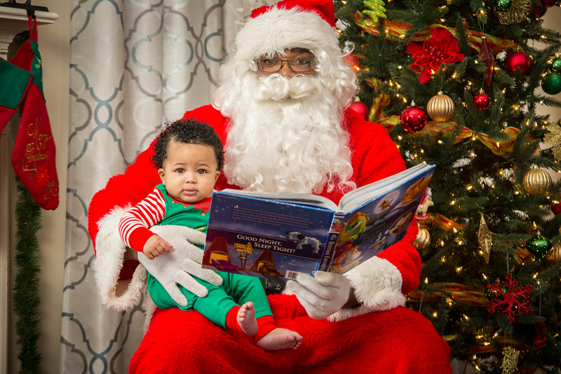 Santa stops by