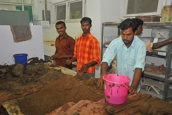 Ganesh Eco Idol Making Aug'09