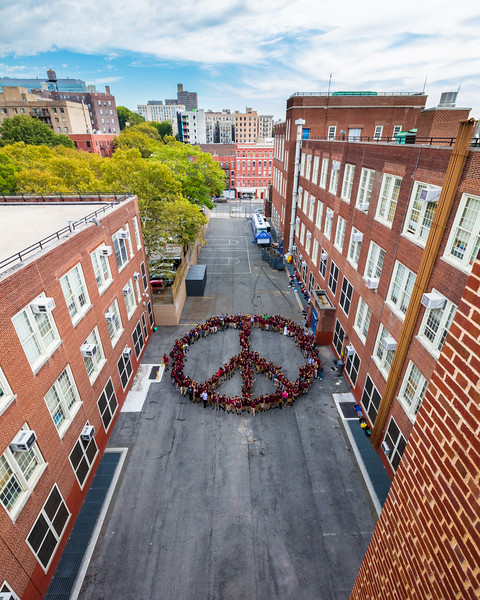 2017_10_05, New York, NY, Peace Sign, Urban Assembly