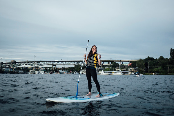Paddle Boarding with Carolyn