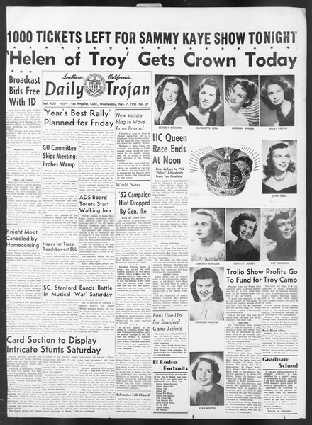 Daily Trojan, Vol. 43, No. 37, November 07, 1951