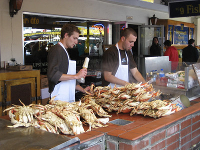 Crabs at Fisherman's Wharf