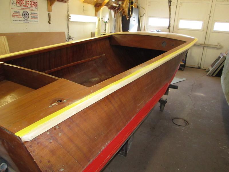 Starboard rear showing shear rail stripped.