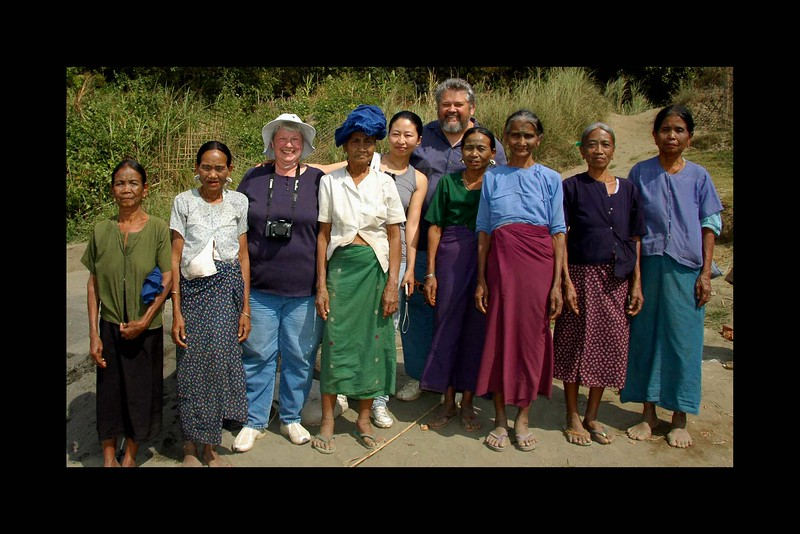 Jim and Chelle Warfield, Gao Bei and Seven Tattooed Chin Ladies from Burma - 2010.jpg