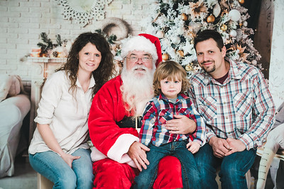 Radford Family's Christmas with Santa