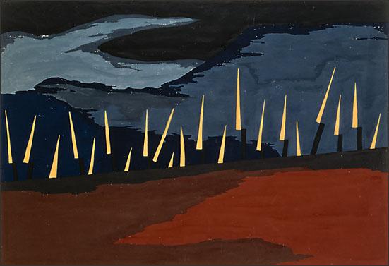 """Jacob Lawrence, """" The Life of John Brown No. 19,"""" (1941)"""