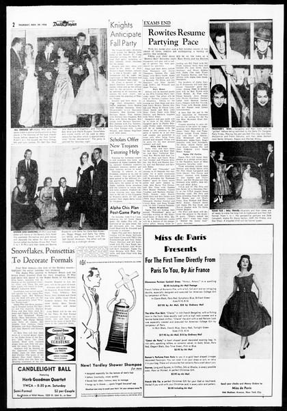 Daily Trojan, Vol. 48, No. 48, November 29, 1956