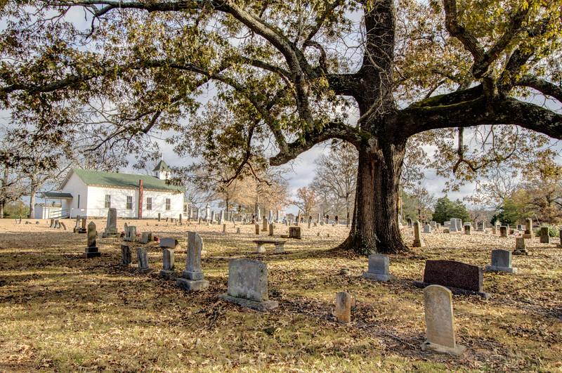 Frenchmen's Mountain Methodist Church and Cemetery - Cato, AR