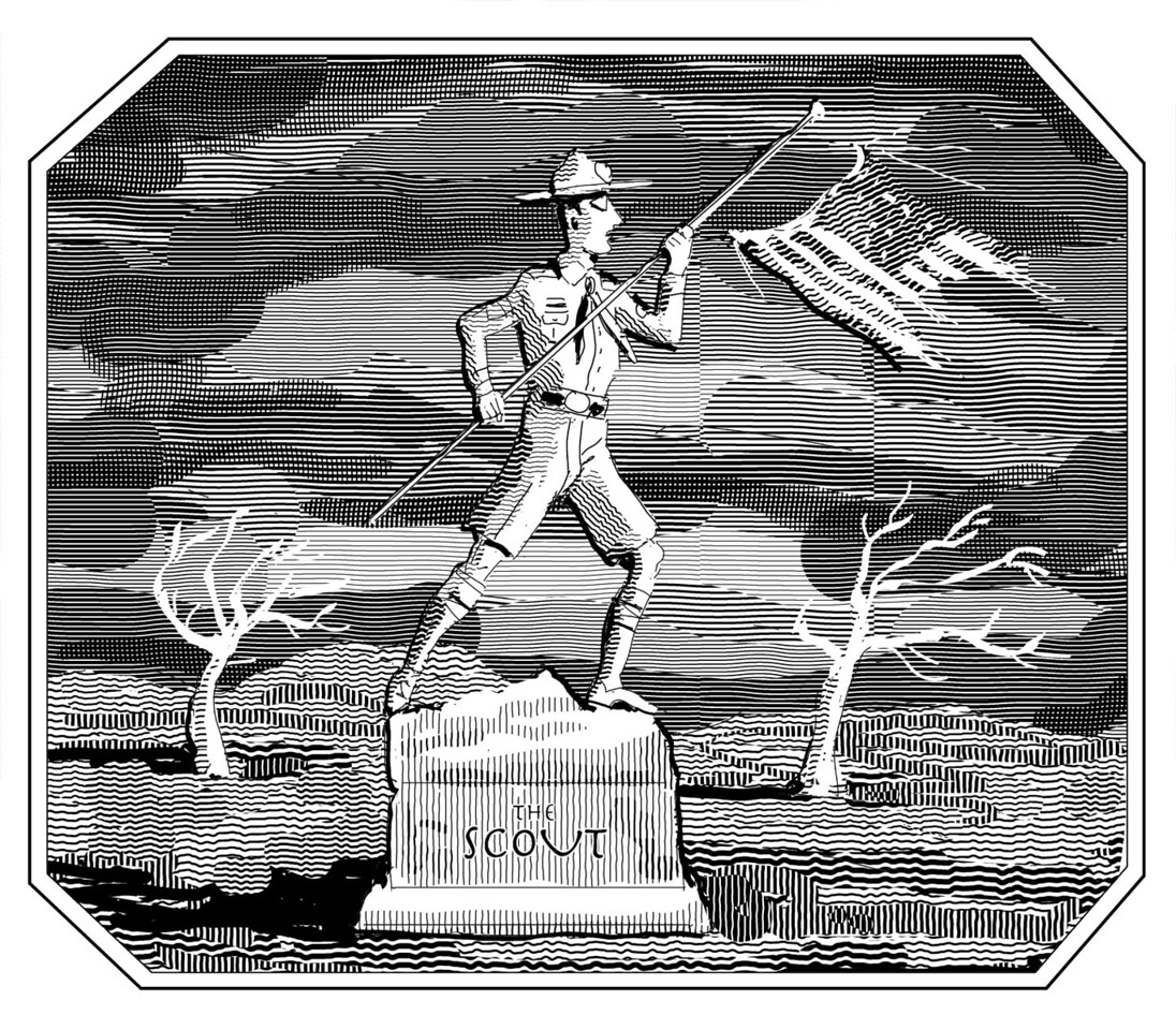 Illustration published in the Fall 2011 issue of the Claremont Review of Books