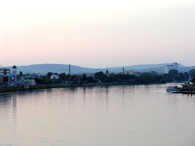 Huningue, seen from Dreirosenbrücke