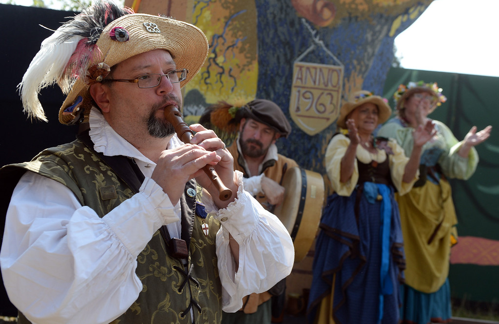 . Musician perform on opening day of the Renaissance Pleasure Faire at Santa Fe Dam Recreation Area in Irwindale, Calif., on Saturday, April 5, 2014. 