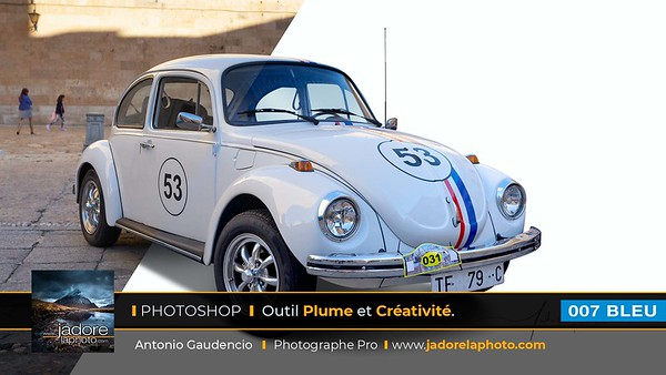007 BLEU Photoshop Outil Plume