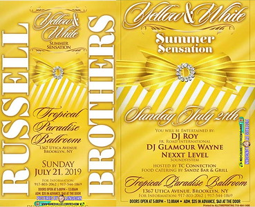 """RUSSELL BROTHERS """"YELLOW & WHITE SUMMER SENSATION""""(10)"""