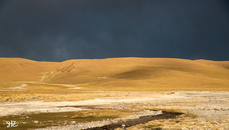 evening light on the altiplano