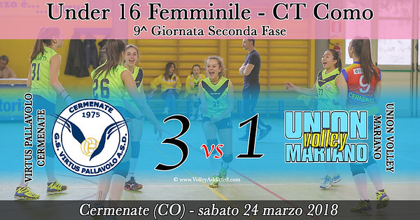 CO-U16f: Virtus Cermenate - Union Volley Mariano