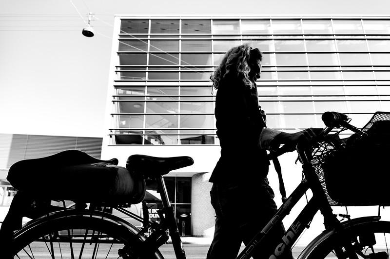 Walking with bike