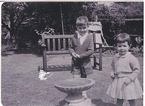 Steve and Julia in Aunt Nells Garden.jpg