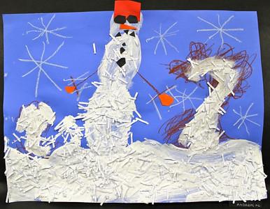 Kindergarten Shredded Paper Snowmen