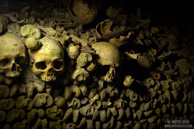 Catacombs of Paris - Photography of Wayne Heim