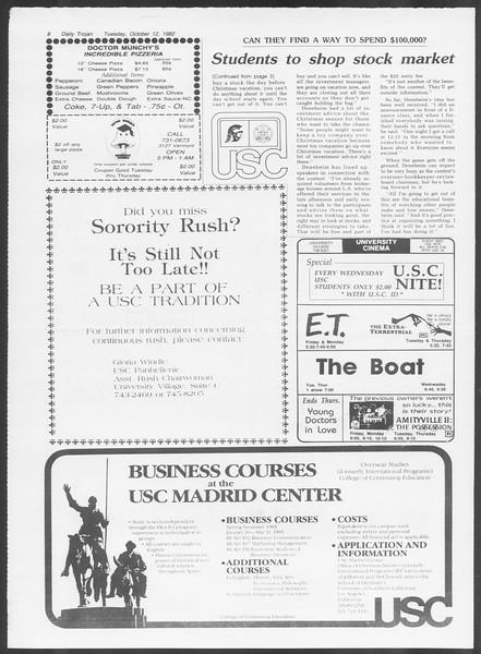 Daily Trojan, Vol. 92, No. 26, October 12, 1982