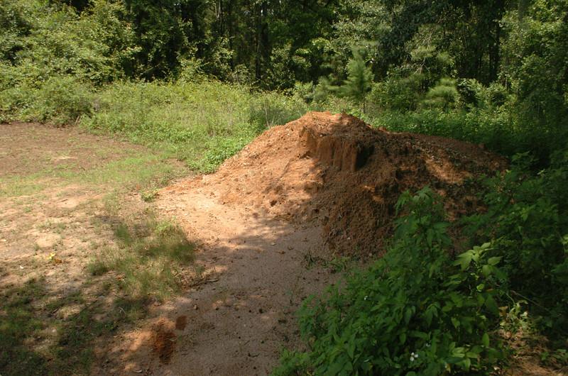 Clay borrow pit.