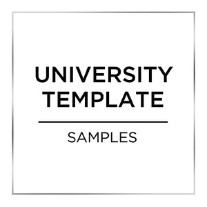 University Set Up