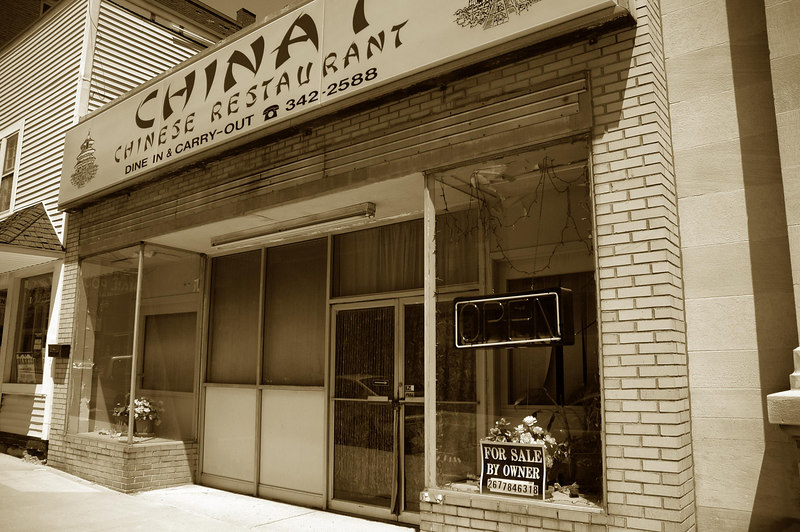 Chinese restaurant has been closed and for sale now for over 10 years.