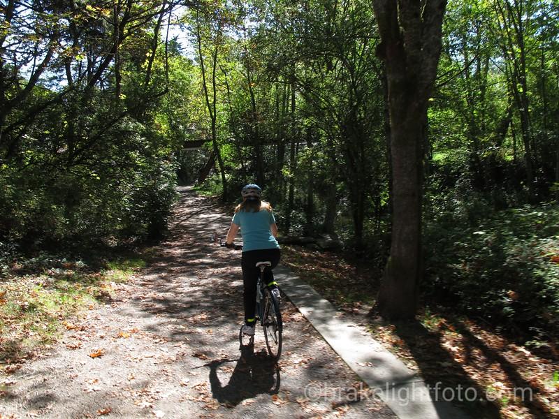 Biking Colquitz Creek Trail