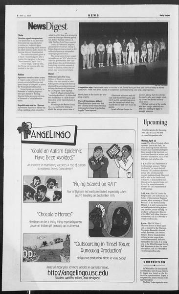 Daily Trojan, Vol. 154, No. 54, April 11, 2005