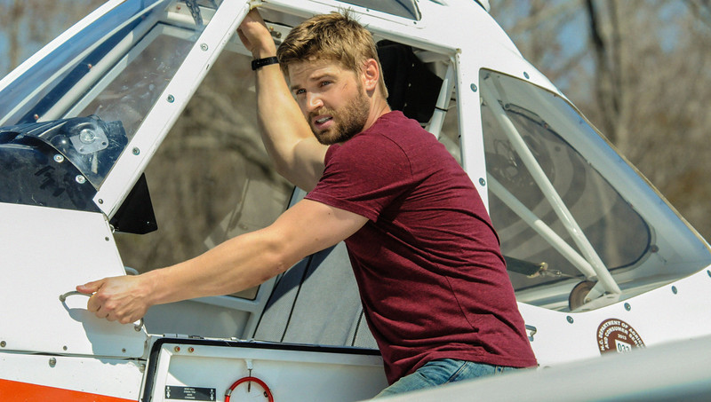 """. \""""Infestation\"""" - Barbie (Mike Vogel) risks his life to help Rebecca save the Chester\'s Mill food supply when she discovers an infestation of butterfly eggs on the town\'s crops, on UNDER THE DOME, Monday, July 7 (10:00-11:00 PM, ET/PT) on the CBS Television Network.  (Photo: Brownie Harris/CBS)"""