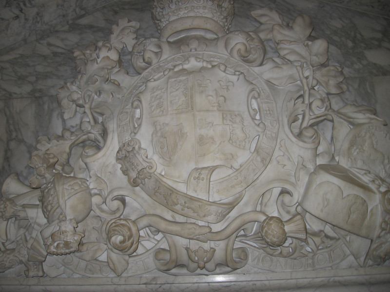 Carved coat of arms, Hampton Court Palace