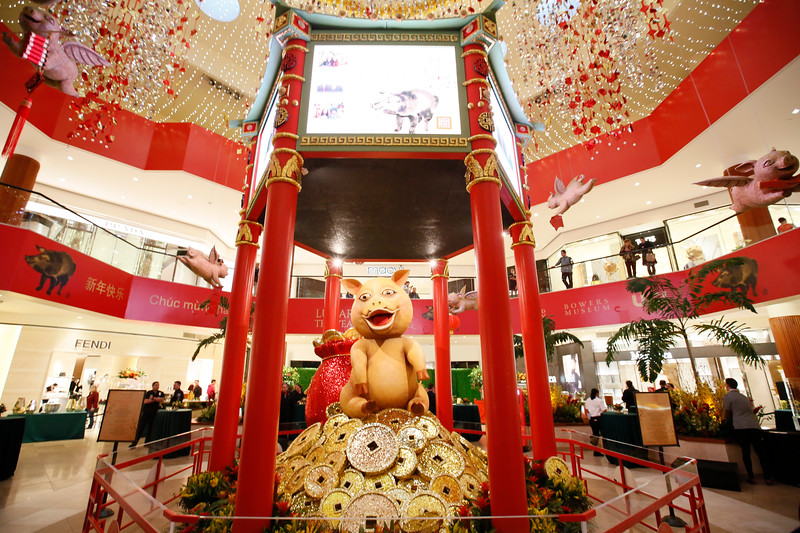 Year of the Pig Lunar New Year celebration at South Coast Plaza