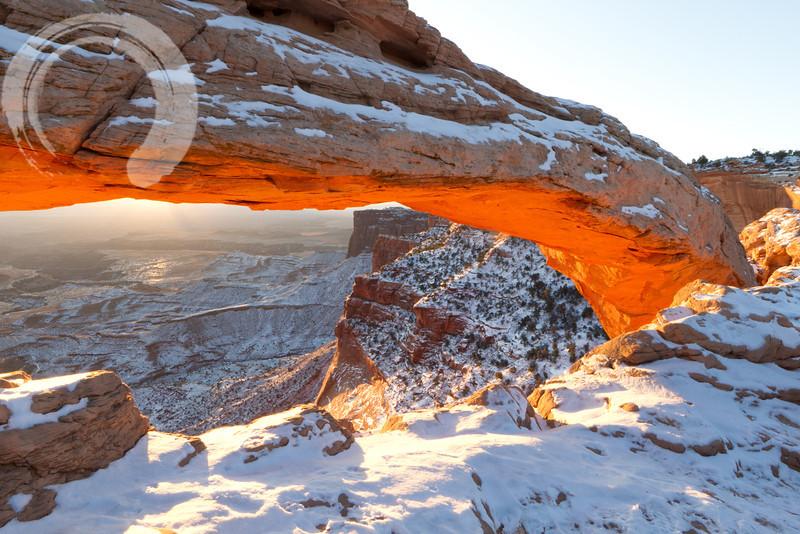 Snowy Mesa Arch