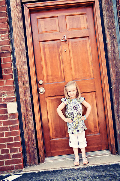 So fun to find a door with a 4 since she just turned 4..