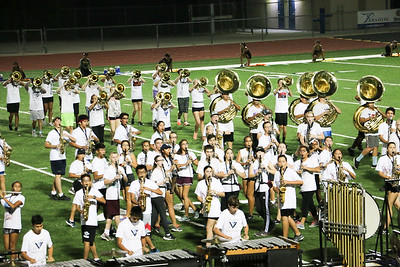 Marching Band rehearsals